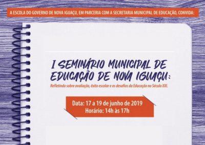 Seminário irá debater a educação pública em Nova Iguaçu
