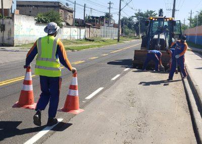 Obras em Nova Iguaçu não param mesmo em período de pandemia da Covid-19