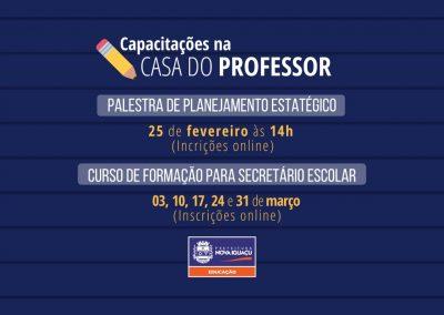 Casa do Professor capacita Profissionais da Educação
