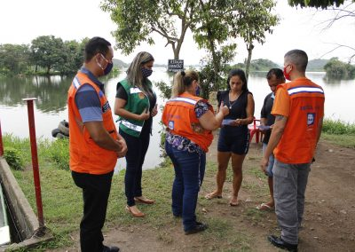 Defesa Civil e Meio Ambiente de Nova Iguaçu fazem ação para prevenir afogamentos no Rio Guandu