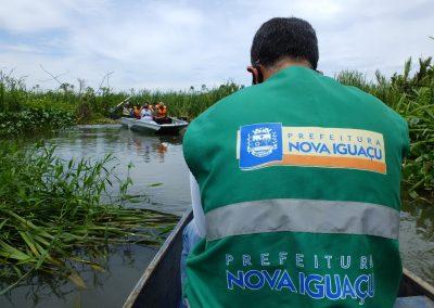 Secretaria de Meio Ambiente de Nova Iguaçu faz vistoria técnica no Rio Guandu