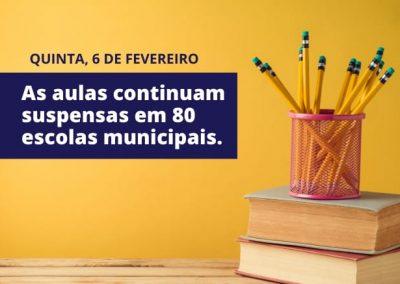 Aulas seguem suspensas em 80 escolas de Nova Iguaçu