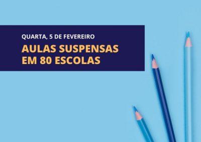 Prefeitura de Nova Iguaçu suspende aulas em 80 escolas da rede municipal por causa de problemas no fornecimento de água da Cedae