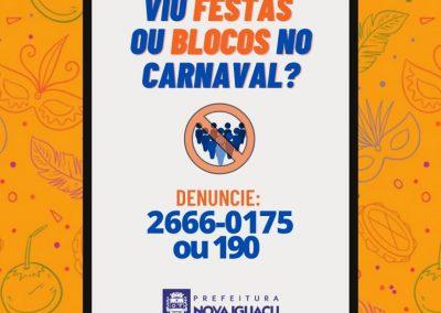Nova Iguaçu vai coibir festas e blocos de rua durante Carnaval