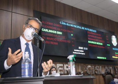 Rogerio Lisboa toma posse de seu segundo mandato como prefeito de Nova Iguaçu