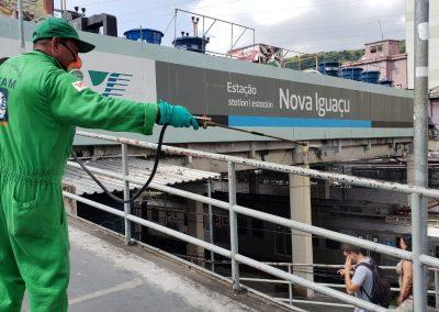 Prefeitura de Nova Iguaçu higieniza espaços públicos e reforça ação em unidades de saúde