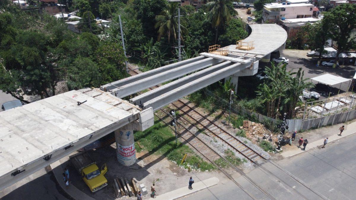 Passagem de nível da via férrea em Nova Iguaçu será fechada para obra do  viaduto de Austin, com colocação de lajes pré-moldadas | Prefeitura de Nova  Iguaçu