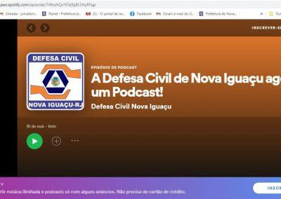 Defesa Civil de Nova Iguaçu lança Podcast para manter população bem informada