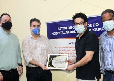 Hospital Geral de Nova Iguaçu recebe homenagem por apoio ao Projeto de Conscientização da Higienização das Mãos